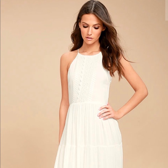 2523fba0319 Lulu s White Embroidered Maxi Dress
